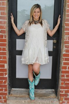 Crochet Coverup with Lace from Sassafras