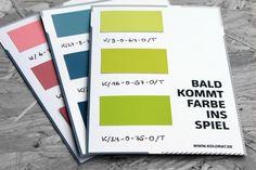 Mini-Farbmusterkarten von KOLORAT