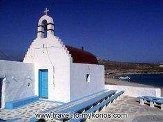 A picturesque chapel which is built near to Kalo Livadi beach.