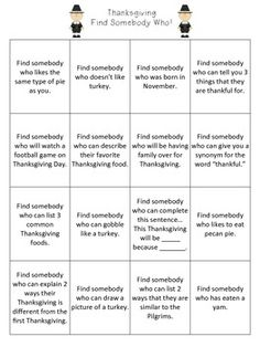 Thanksgiving activities - ready to use!