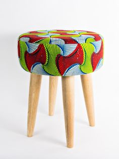 Tabouret Wax, made in Senegal (Keur)