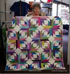 Pineapple Blossom from the free patterns tab at the top of the blog http://quiltville.blogspot.com