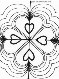 Kaleidoscope Coloring Pages art