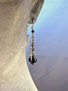 Romantic Purple Crystal Drop Earrings by blingbychristine on Etsy