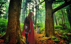 Little Red Riding Hood and the wild wolf #halloween