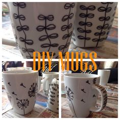 Homemade DIY mugs
