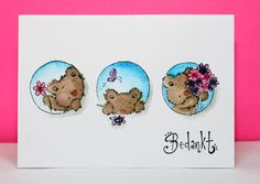 Lili of the valley stamp posy trio, Peerless watercolor