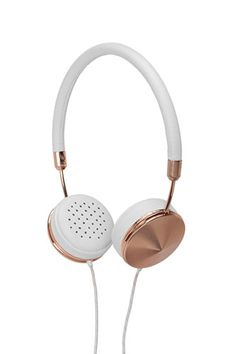 Luxury gifts for women - these hot headphones with hand-crafted metal, a jewelry-inspired design, and soft lambskin feel swanky—even on a frazzled morning commute. Diesel Punk, Cyberpunk, Luxury Gifts For Women, Christmas Gifts For Her, Cool Things To Buy, Stuff To Buy, Nice Things, Travel Essentials, Travel Accessories