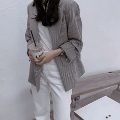 126 images about fits on We Heart It Ootd, Daily Look, Black Blazers, Mom Style, Instagram Fashion, Style Instagram, Capsule Wardrobe, Korean Fashion, Work Wear