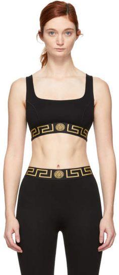 ff6d58223a033 Versace Underwear Black Sporty Bra