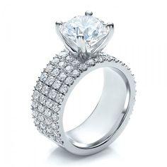 Diamond Ring 4 rows of pave