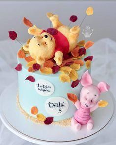 Best Birthday Cake Designs, Cake Designs For Boy, 12th Birthday Cake, Baby Boy Birthday Cake, Baby Cakes, Cupcake Cakes, Pretty Cakes, Cute Cakes, Winnie The Pooh Cake