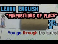 Prepositions of place & Giving directions in English English Prepositions, Giving, Learn English, Teaching, Places, Youtube, Learning English, Education, Youtubers