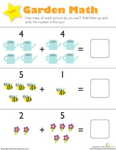 Picture Math: Addition and Subtraction   Printable Workbook   Education.com