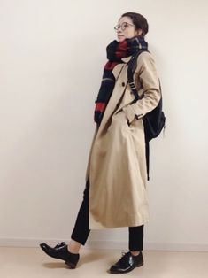 Fall Fashion Outfits, Fashion Wear, Winter Fashion, Womens Fashion, Japanese Fashion, Korean Fashion, Trench Coat Outfit, Winter Stil, Student Fashion