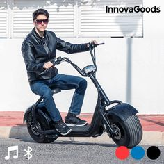 #Chopper #Elektroscooter #Elektromobil #Umwelt #Fortbewegung #City #Stadt #Verkehr #Trend Chopper, Scooters For Sale, New Product, Sports, Dyi, Gadgets, Boutique, Bluetooth Speakers, Electric Scooter
