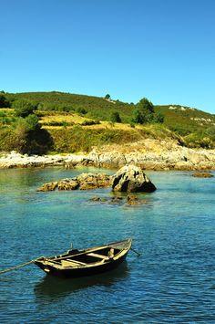 La Isla de Ons, en Galicia. Mi primer campo de trabajo a mediados de los ochenta. Una isla encantada.
