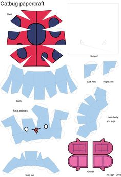 DIY from http://mrqqn.deviantart.com/art/Catbug-papercraft-model-359835821