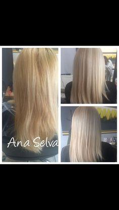 Cold blond hair White hair