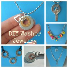With my first craft show coming up, I have been putting together some new washer jewelry (see this post , this one , and this one  for pre...