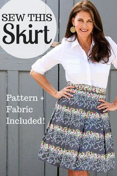 Bring the beauty of a blooming garden wherever you go with the Painted Blooms Full Skirt Kit! Receive a pattern perfectly paired with Amy Butler's Alchemy Sateen fabric, a lush combination of chic charcoal and gorgeous florals in a luxe sateen cotton. Pleats and a gently flared silhouette make this skirt as flattering as it is fabulous!