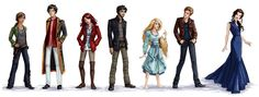 cinder, kai, scarlet, wolf, cress, thorne...... and WHO? (is that supposed to be Queen Levana?!)