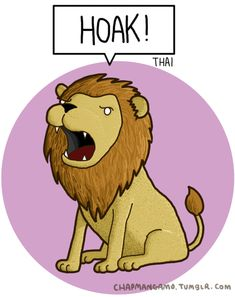 Lions. | What Noises Do Animals Make In Other Languages? (GIF image)