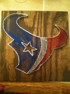 Houston Texans String Art from on Etsy. Saved to Epic Wishlist. Texas Texans, Houston Texans Football, Bulls On Parade, Diy And Crafts, Arts And Crafts, Adult Crafts, Cuadros Diy, As You Like, Craft Projects