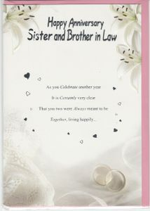 free anniversary cards for sister and brother in law