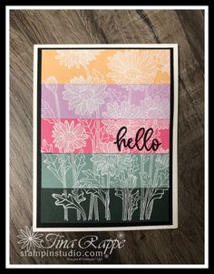 Fresh and festive new In Colors are sure to please. Check out this card that features the Stacked Strip Embossing Technique.