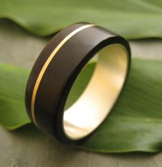 Oro Plano Wood Ring  ecofriendly wedding band by naturalezanica, $289.00