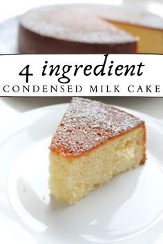 Cake Recipe Using Yogurt, Honey Cake Recipe Easy, Condensed Milk Desserts, Sweet Condensed Milk, Condensed Milk Biscuits, Homemade Cake Recipes, Pound Cake Recipes, Quick Cake, Quick Dessert