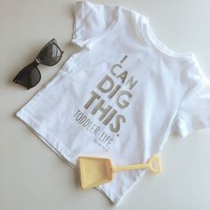 I Can Dig This | Toddler Life - Unisex Toddler T-Shirt - Trendy - Modern - Kids - Photoshoot by LittlePiggyToesCo on Etsy