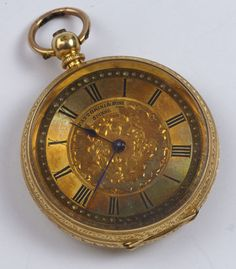 """Ornate antique pocket watch click to see reverse image # watch"