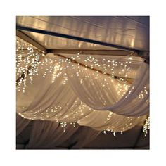 Winter wedding decor - Sheer white drapes with fairy lights Wedding Events, Our Wedding, Dream Wedding, Tent Wedding, Wedding Things, Wedding Blog, Party Wedding, Wedding Beauty, Wedding Stuff
