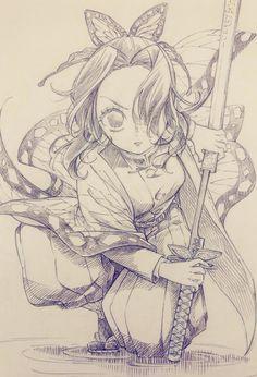 Las imágenes y fanarts de los personajes del anime Kimetsu no Yaiba Anime Character Drawing, Manga Drawing, Manga Art, Character Art, Character Design, Sketch Drawing, Drawing Poses, Anime Drawings Sketches, Anime Sketch