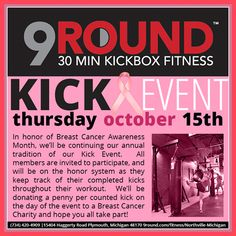 Don't forget!!  9Round in Northville, MI is a 30 minute full body workout with no class times and a trainer with you every step of the way! Visit www.9round.com/fitness/Northville-Michigan or call (734) 420-4909 if you want to learn more!