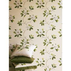 Buy Sanderson Wallpaper, Sweet Bay DPFWSW102, Green Online at johnlewis.com