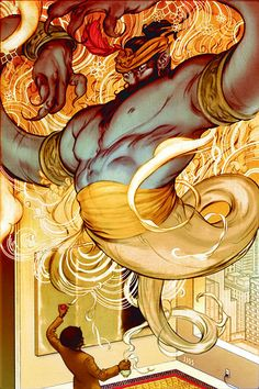 FABLES -  The Arabian Nights (and Days), Chapter Two: D'jinn & Tonic With a Twist   by James Jean