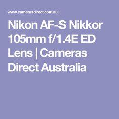 Nikon AF-S Nikkor 105mm f/1.4E ED Lens | Cameras Direct Australia