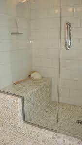 pebble tiled wet room