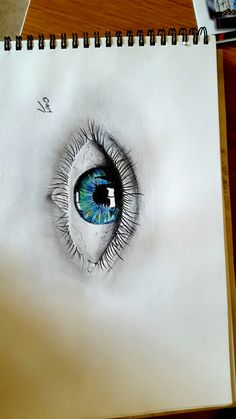 drawing of an eye.. my first