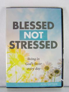 """#Pastor Joel #Osteen #Ministries """"Blessed Not Stressed--Living in God's Favor Every Day"""" #audio #video #CD #DVD #Christian #religious #spiritual teaching #disc set/series, brand new & un-played in protective clamshell case & clear plastic sealed shrink-wrap packaging http://www.ebay.com/itm/NEW-BLESSED-NOT-STRESSED-LIVING-GODS-FAVOR-CD-DVD-SERIES-PASTOR-JOEL-OSTEEN-/111223696853?pt=US_DVD_HD_DVD_Blu_ray&hash=item19e572edd5"""