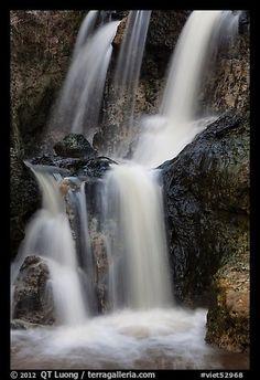 Waterfall detail, Fairy Spring. Mui Ne, Vietnam (color)