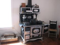 Wood Cookstove--someday I want one like it.  Have lived in two homes with one and loved it.
