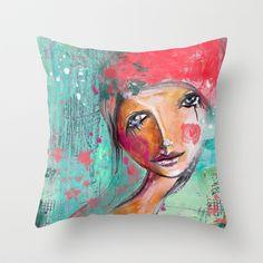 Tears makes you stronger Throw Pillow by SannArt | Society6