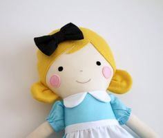 Alice in Wonderland rag doll. Nursery decor doll. Baby by blita