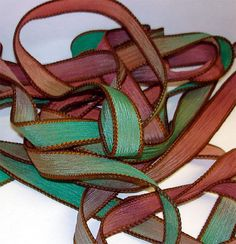 Autumn  42 inch silk ribbon By Color Kissed by ColorKissedSingles, $3.50