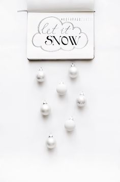 let it SNOW by kofaragozsuzsiphotos Let It Snow, Let It Be, Holiday Photography, Typo, Place Cards, Place Card Holders