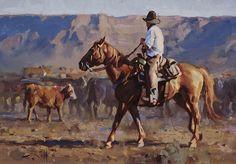"""Out West"" by Jason Rich (Cowboy Artist)"